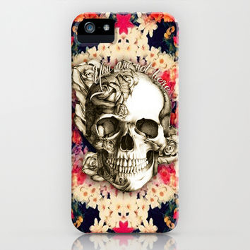 You are not here Day of the Dead Rose Skull. iPhone & iPod Case by Kristy Patterson Design