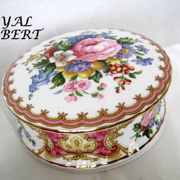 Royal Albert Trinket Box Bone China England Lady Carlyle