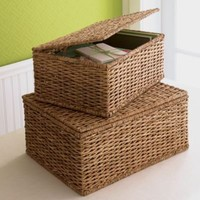 Camea Lidded Storage Baskets