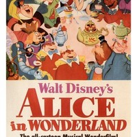 Walt Disney's Alice in Wonderland MOVIE POSTER 1951 24X36 VINTAGE CARTOON (reproduction, not an original)