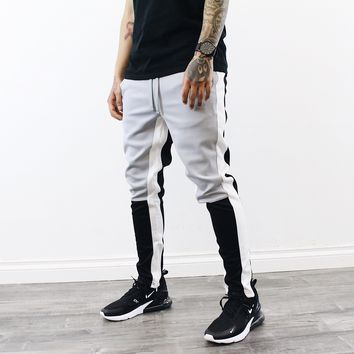 Steven Multi Color Pants (Grey/Black)