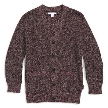 Boy's Burberry 'Carlyle' Wool Blend Cardigan,