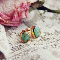 Turquoise Sands Stud Earrings