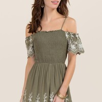 Margot Embroidered Smocked Romper