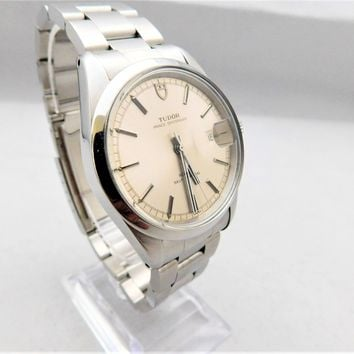 "Rolex-Tudor Prince Oysterdate ""Jumbo"" 38mm Vintage 1980's Pre-Owned Mens Watch"