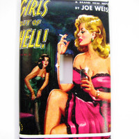 Light Switch Cover - Light Switch Plate Vintage Pulp Pin Up Girls Out Of Hell