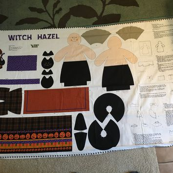 2005 OOP Halloween - Witch Hazel Fabric Doll Panel by VIP Cranston