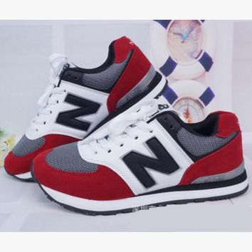 New balance abric is breathable n leisure sports shoes women's shoes Couples forrest g
