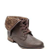 Oxford 05 Cute Cozy Laceup Boot