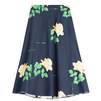 Michael Kors - Printed Wool-Silk Midi Skirt