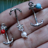 16 Gauge Anchor Eyebrow Rook Barbell 16g G Navel Stud Bar Barbell Ear Earring Jewelry