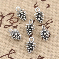 20pcs Charms pine cone 10mm Antique,Zinc alloy pendant fit,Vintage Tibetan Silver,DIY for bracelet necklace