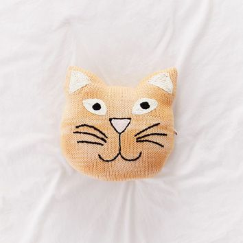 Crochet Cat Throw Pillow | Urban Outfitters