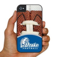 Drake University iPhone 4/4s Protective BruteBoxTM Case - Football Design 3