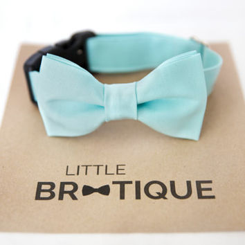 Aqua Dog Bow Tie Sent 3-5 business days after you order
