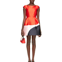 Kate Spade Colorblock Fit And Flare Dress Fairytale Red Multi