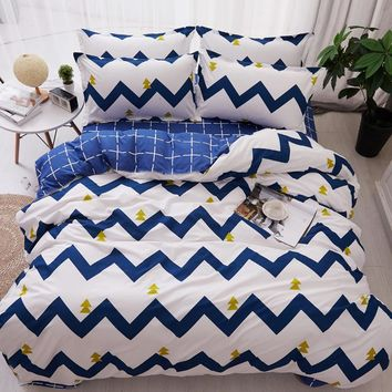 4pcs/set bedspreads Quilted Quilt 2pcs Pillowcase King Queen Twin Full Size Duvet Cover Air Conditioner Blanket