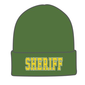 Tactical Military Law Enforcement Toboggan Watch Caps- Sheriff- Olive