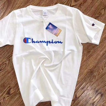 '' Champion '' Women Men Hot Sale Shirt Top