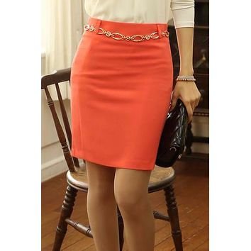 Slim Hip High Waist Pencil Short Skirts