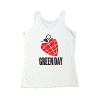 Green Day Tank Top Shirt Billy Joe ArmStrong T-Shirt Women Shirts Size S M L
