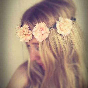 Flower crown headband,flower jewelry,beach,festival,flower headpiece,boho flower crown,bridesmaids flower crown,wedding flower crown,