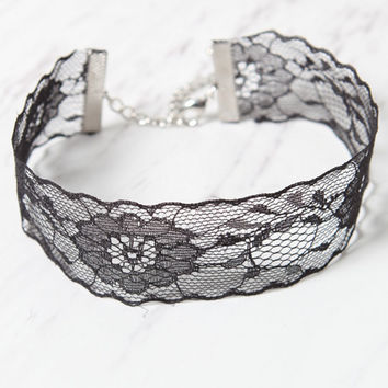 LA Hearts Wide Lace Choker at PacSun.com