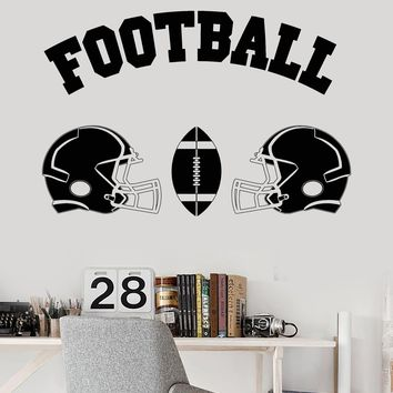 Vinyl Wall Decal Football Helmet Ball Boy Room Sports Decor Stickers Unique Gift (ig3541)