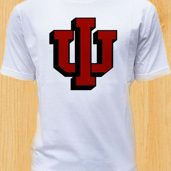 indiana hoosiers TShirt Tee Shirts Black and White For Men and Women Unisex Size