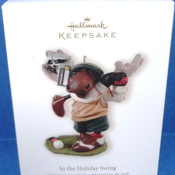 2008 In The Holiday Swing Hallmark Retired Ornament