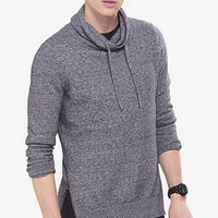 Heathered Funnel Neck Side Zip Sweater from EXPRESS