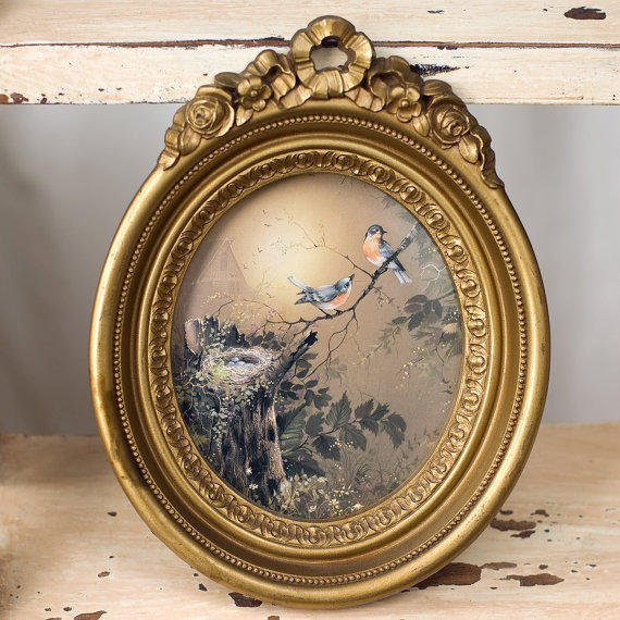 Wall Hanging Bird And Nest Vintage