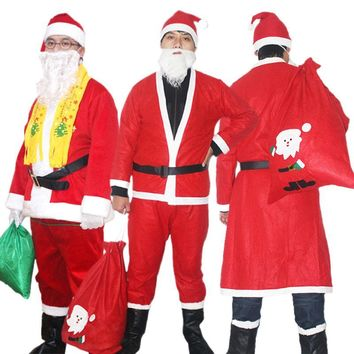 Christmas clothes Santa Claus dress thicker dress men and women Santa Claus cloak Christmas father-in-law dress