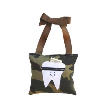 Boys Tooth Fairy Pillow: Camouflage