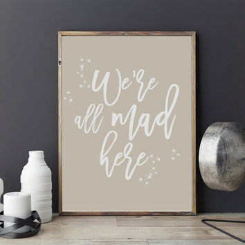 Motivational Poster, We're All Made Here, Motivational Print, Quote Poster, Motivational Wall Decor, Typography Poster, Quote Wall Art.