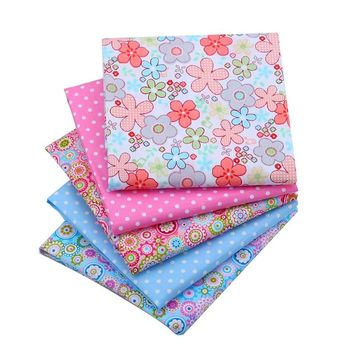 New Flower Cotton Fabric Telas Patchwork Fabirc Fat Quarter Bundles Tecido For Sewing Cloth Bedding Quilting  40*50CM 5pcs/lot