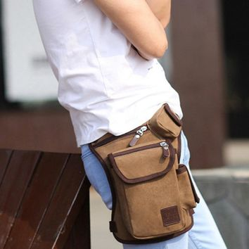 Multifunctional Canvas Hip Holster Security Bag