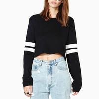Autumn Women Sweatshirts Long Sleeve Striped Sweatshirt Casual  Pullover Jumper Crop