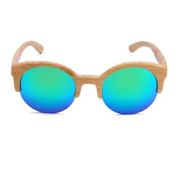 The Natural Brows Bamboo Sunglasses Blue