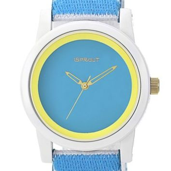 SPROUT Watches Stripe Organic Cotton Strap Watch, 38mm