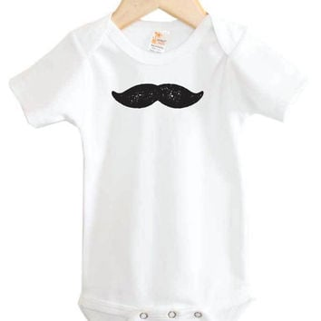 Mustache Baby Onesuit // Fun Baby Onesuit // New baby clothing // funny Onesuit