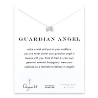 guardian angel, angel wings necklace, sterling silver