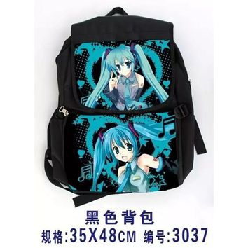 Girl Anime Hatsune Miku Vocaloid School Backpack Shoulder Bag Cosplay Canvas Rucksack