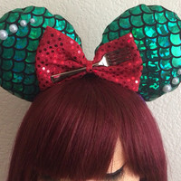 Little mermaid scale Mickey ears