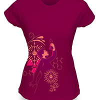 Heroine: Marie Curie Fitted Ladies' Tee