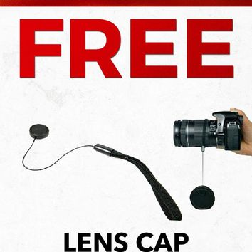 Christmas 2018 Free CAPCCETC-B Black Lens Cap Saver Strap Gift With Purchase