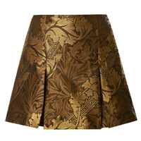 Jacquard Pleated Mini Skirt by Ostwald Helgason - Moda Operandi