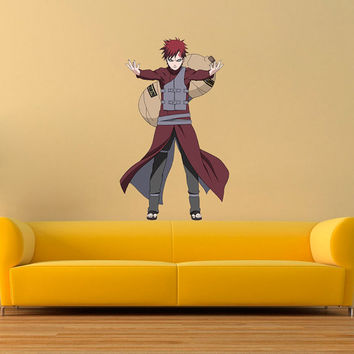 Gaara Decal - Hero Printed and Die-Cut Vinyl Apply in any Flat Surface - Gaara - Naruto Shippuden Wall Art Design Decor