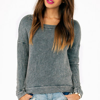 Mindi Acid Cropped Sweatshirt
