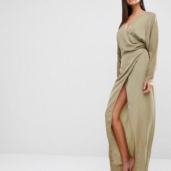 AQ AQ | AQAQ Marvey Drape Maxi Dress at ASOS